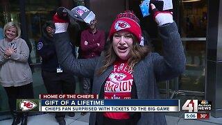 Tuesday surprise! Chiefs fan wins tickets to Super Bowl LIV