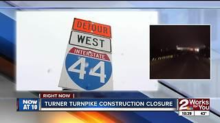 TRAFFIC ALERT: Westbound Turner Turnpike closed overnight