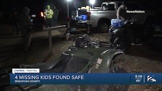 Four missing children found safe