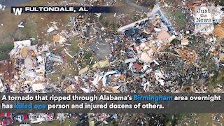 Tornado rips through Alabama north of Birmingham, killing one, injuring dozens