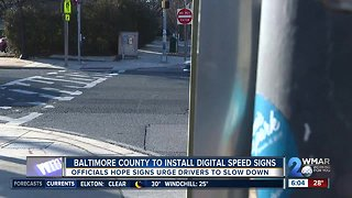 Baltimore County to install traffic calming digital signs to reduce speeding drivers