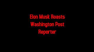 Elon Musk Roasts Washington Post Reporter 2-23-2021