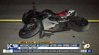 Motorcyclist arrested after leading high-speed chase