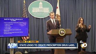 California looks to create prescription drug label