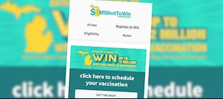 Governor Whitmer touts vaccination sweepstakes