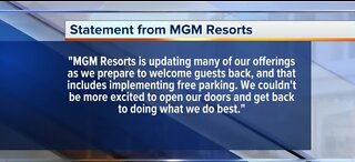 MGM Resorts will offer free parking when Las Vegas reopens
