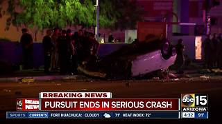 Scottsdale officer-involved shooting leads to pursuit and crash