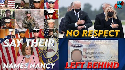 Say Their Names - Pelosi REFUSES To Acknowledge Dead Servicemen
