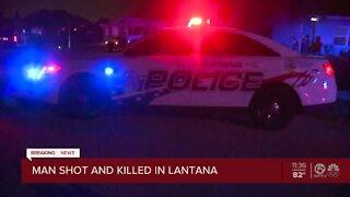 Man shot and killed in Lantana