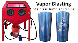 Vapor Blast / Honing DIY Engraving Stainless Steel Tumblers