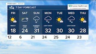 Cold front blows through Thursday evening