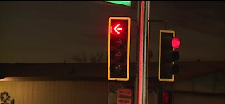 New traffic signal activated after motor accident