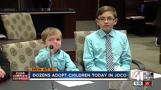 Joy fills Johnson County courtroom on National Adoption Day