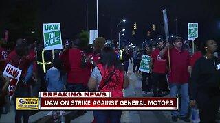UAW workers striking against General Motors