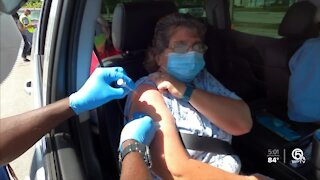 Non-Glades residents taking advantage of COVID-19 vaccine site