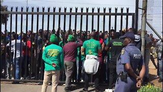 SOUTH AFRICA - Pretoria. Two policemen in court for TUT student death (dqK)