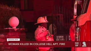 Woman found dead in College Hill apartment fire