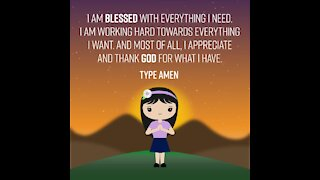 I am blessed with everything I need [GMG Originals]