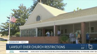 Lawsuit over church restrictions in California