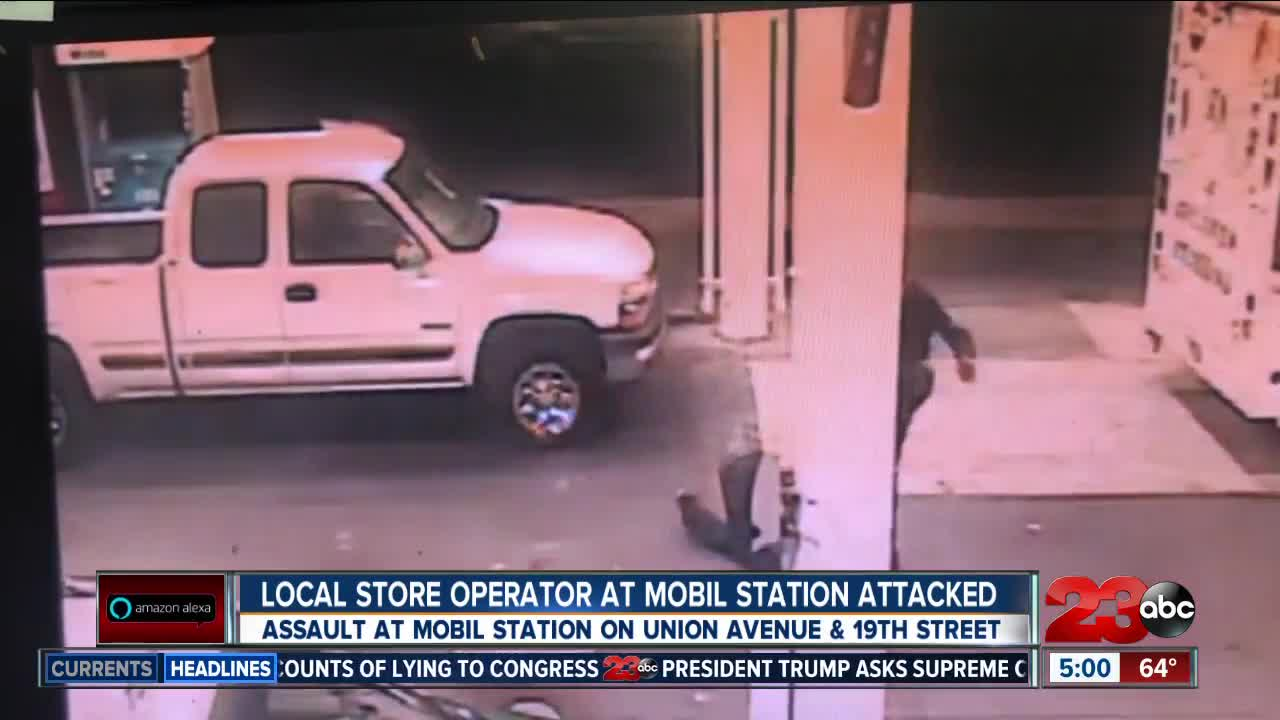 Local store operator at Mobil station attacked