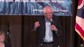 Democratic presidential candidate Bernie Sanders campaigning in Lordstown