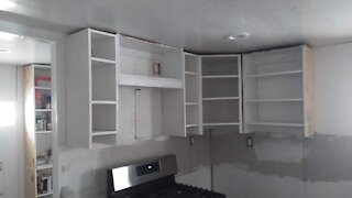 Kitchen Upper Cabinet Install