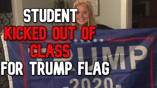 High School Student KICKED OUT of Class For Trump Flag