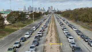 Thousands Line Up At Dallas Food Bank For Thanksgiving Meals