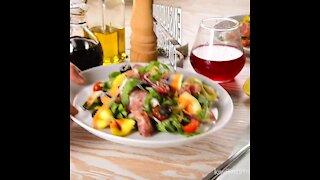 Italian Salad with Moñitos Pasta