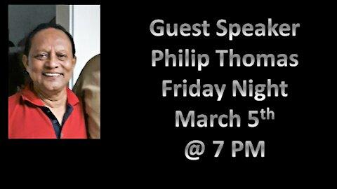 Guest Speaker Philip Thomas