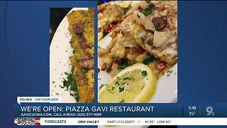Piazza Gavi offers Italian fare