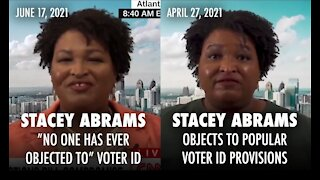 Stacey Abrams Flips Flops on Voter ID