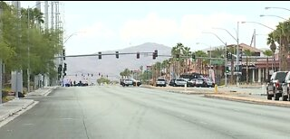 Robbery, barricade situation in west Las Vegas