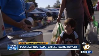 Local school helps families facing hunger