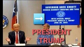 Hmmm the sign says PRESIDENT TRUMP, not former president Trump👍