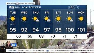Breezy, warm day in Arizona