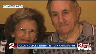 Oklahoma couple celebrates 70th anniversary