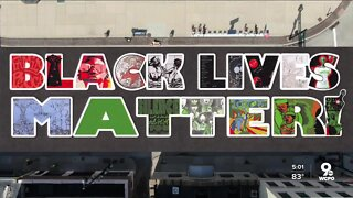 Artists have two days to paint Cincinnati's 'Black Lives Matter' mural