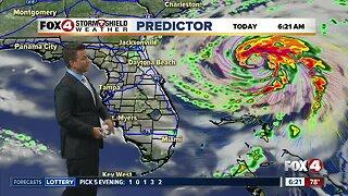 Hurricane Humberto Monday Morning Update