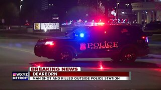 Man shot and killed outside Dearborn police station