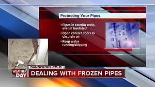 Dealing with frozen pipes during dangerous cold