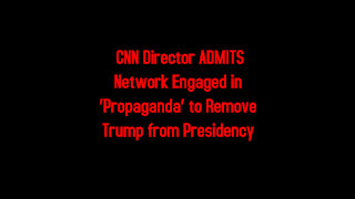 CNN Director ADMITS Network Engaged in 'Propaganda' to Remove Trump from Presidency 4-13-2021