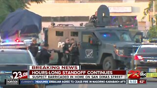 Hours-long standoff with BPD in Central Bakersfield