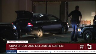 SDPD shoot and kill armed suspect