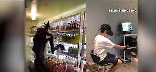 Tokyo store employee operates their first robot employee