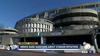 New memos raise questions about stadium initiatives