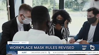 Workplace mask rules revised