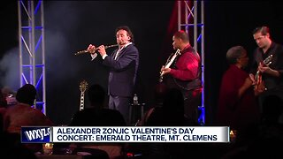 Alexander Zonjic performing Valentine's Day concert at the Emerald Theatre