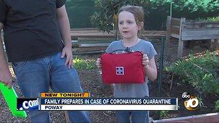 Poway family prepares for Coronavirus quarantine
