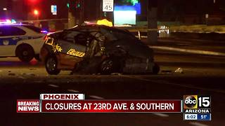 Man hospitalized after serious wreck in Phoenix